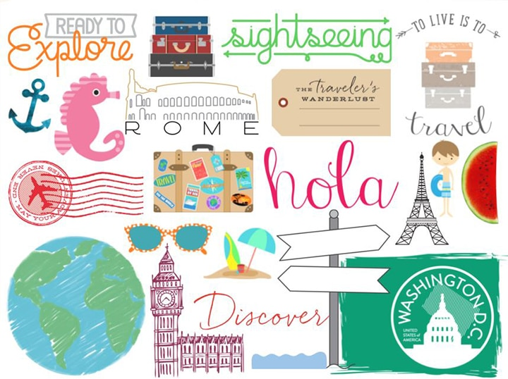 travel embellishments