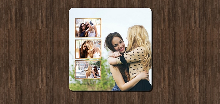 collage coasters
