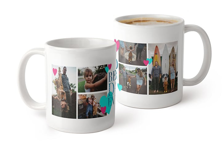 Collage photo mug