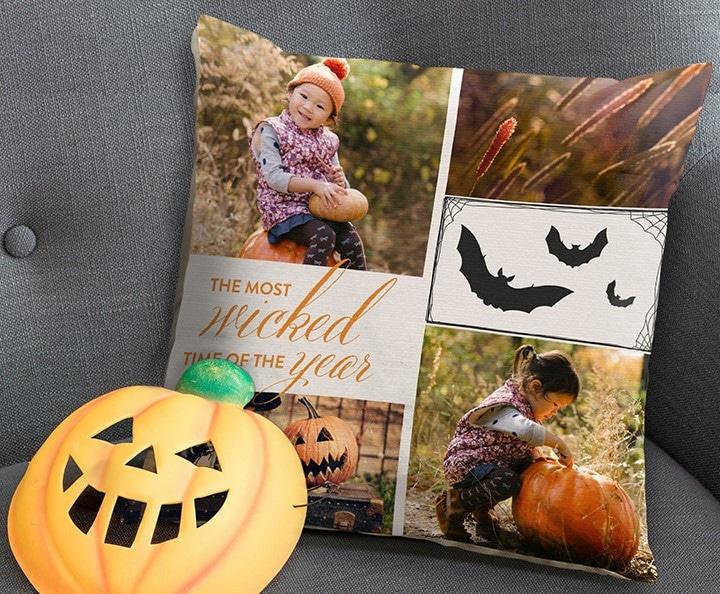 Halloween cushions with embellishments