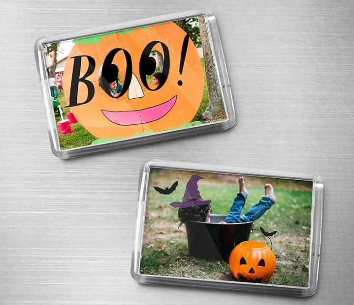 Halloween magnets with embellishments