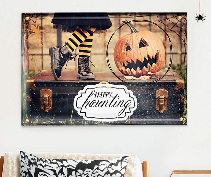 Halloween poster with embellishments