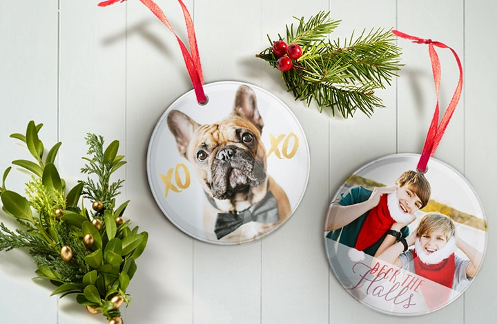 Stocking Stuffers - Round Acrylic Ornaments