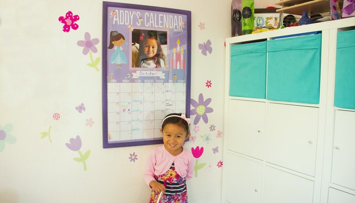 DIY personalised poster calendar