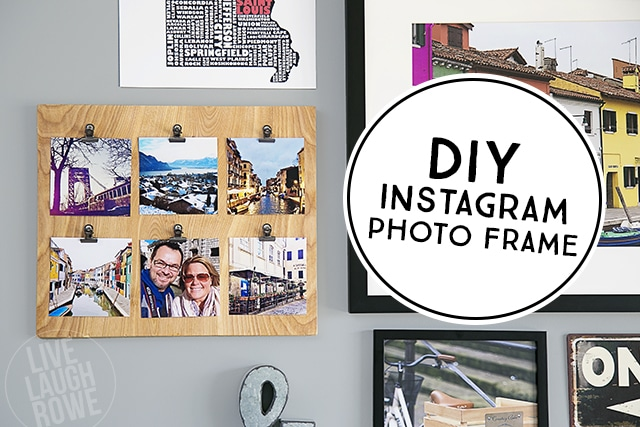 A super fun way to display your Instagram pictures! Make a fun (and easy) DIY Instagram Photo Frame.