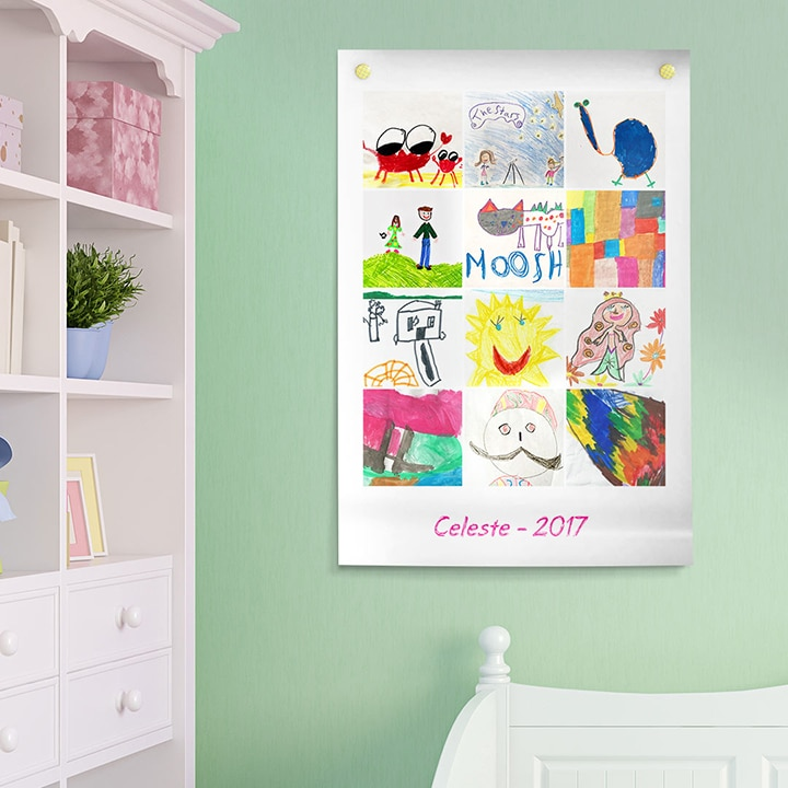 Kids Art Personalised Poster Print