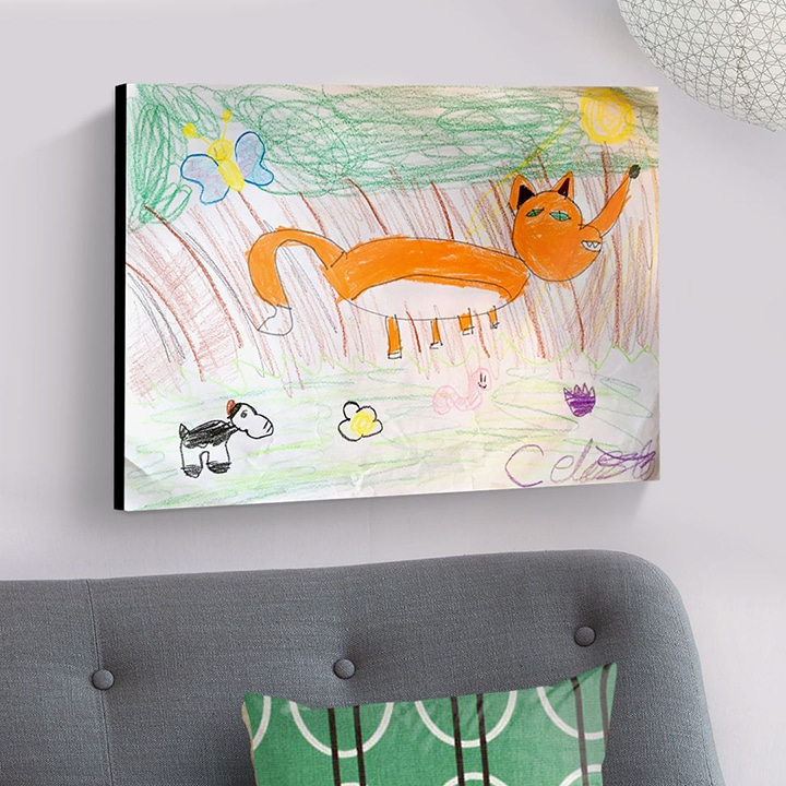 Kids Art Personalised Wall Art Panel
