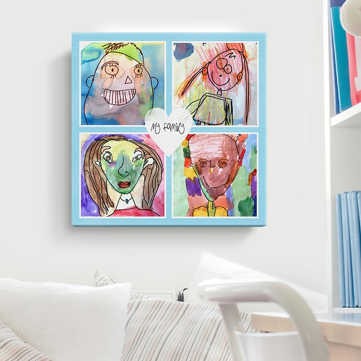 Kids Art Personalised Canvas Print
