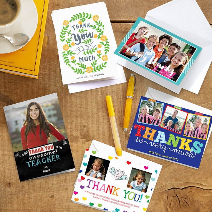 Last Minute Personalised Thank you Gifts for Teachers - Thank you cards