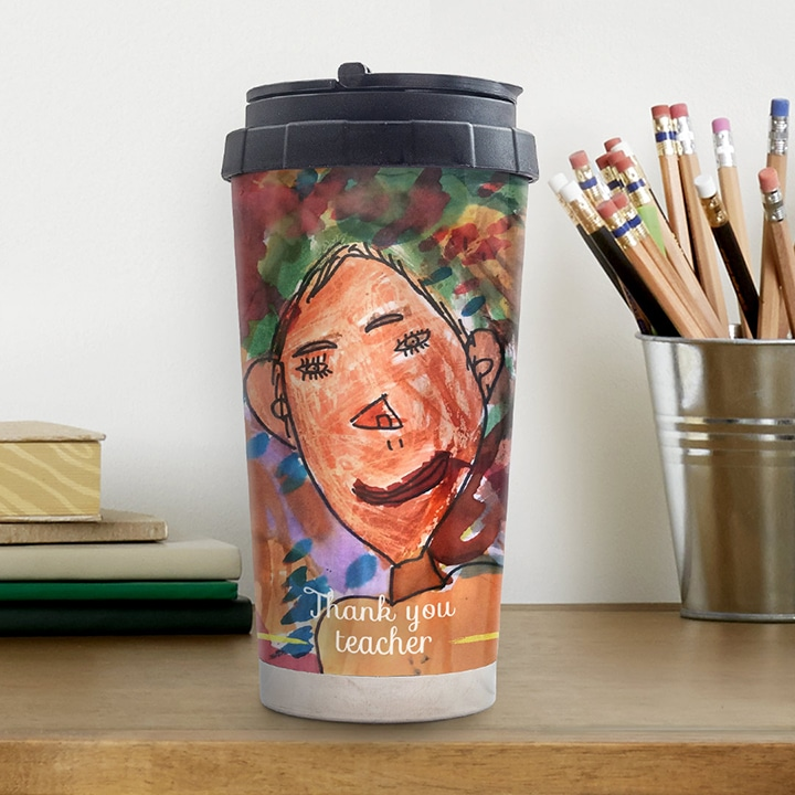 Last Minute Personalised Thank you Gifts for Teachers - Travel Mug