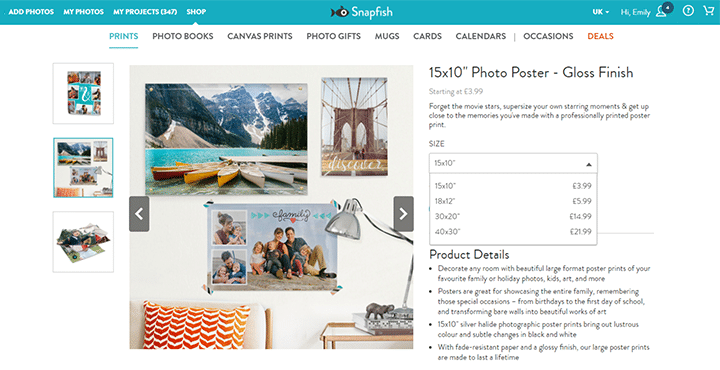 Create your own Polaroid inspired poster design on a poster print