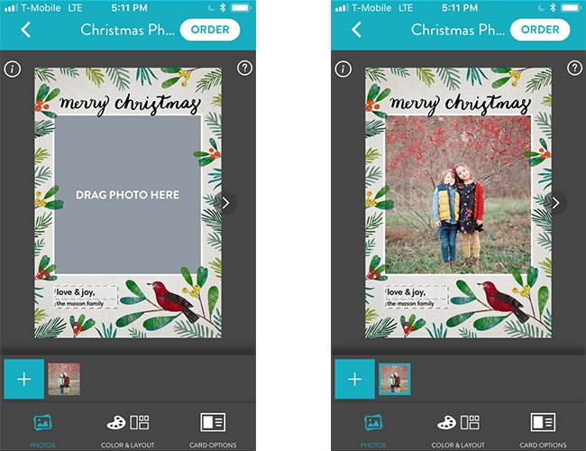 How to Add a Message to Your Personalised Christmas Cards on the Snapfish App