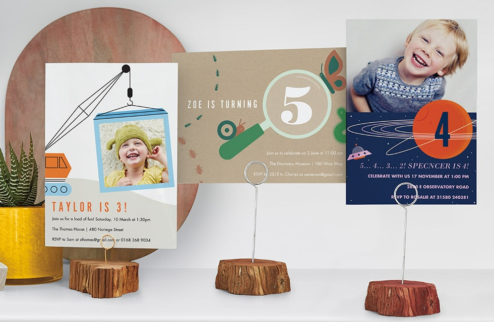 Fun Personalised Party Invitations for Kids - Explorer themed