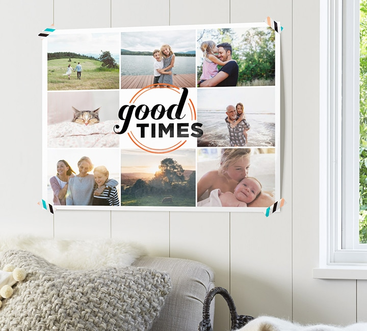 Turn your 2017 happiness highlights into a fun photo poster