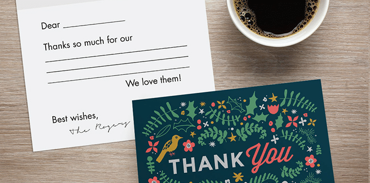 Thank you cards made easy!