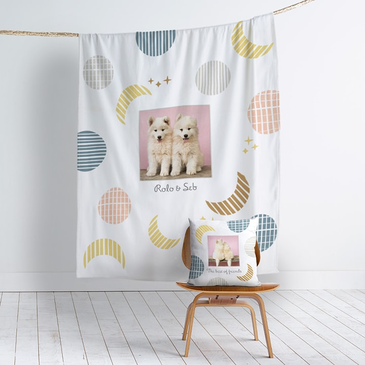 It's Always Snuggle Time With These Matching Cushion + Blanket designs