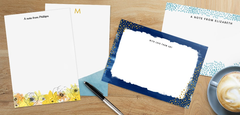 New! Personalised Stationery designs