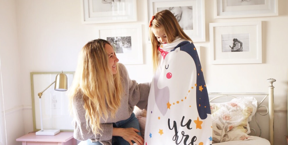 Get Wrapped Up in Our New Unicorn Blanket Design