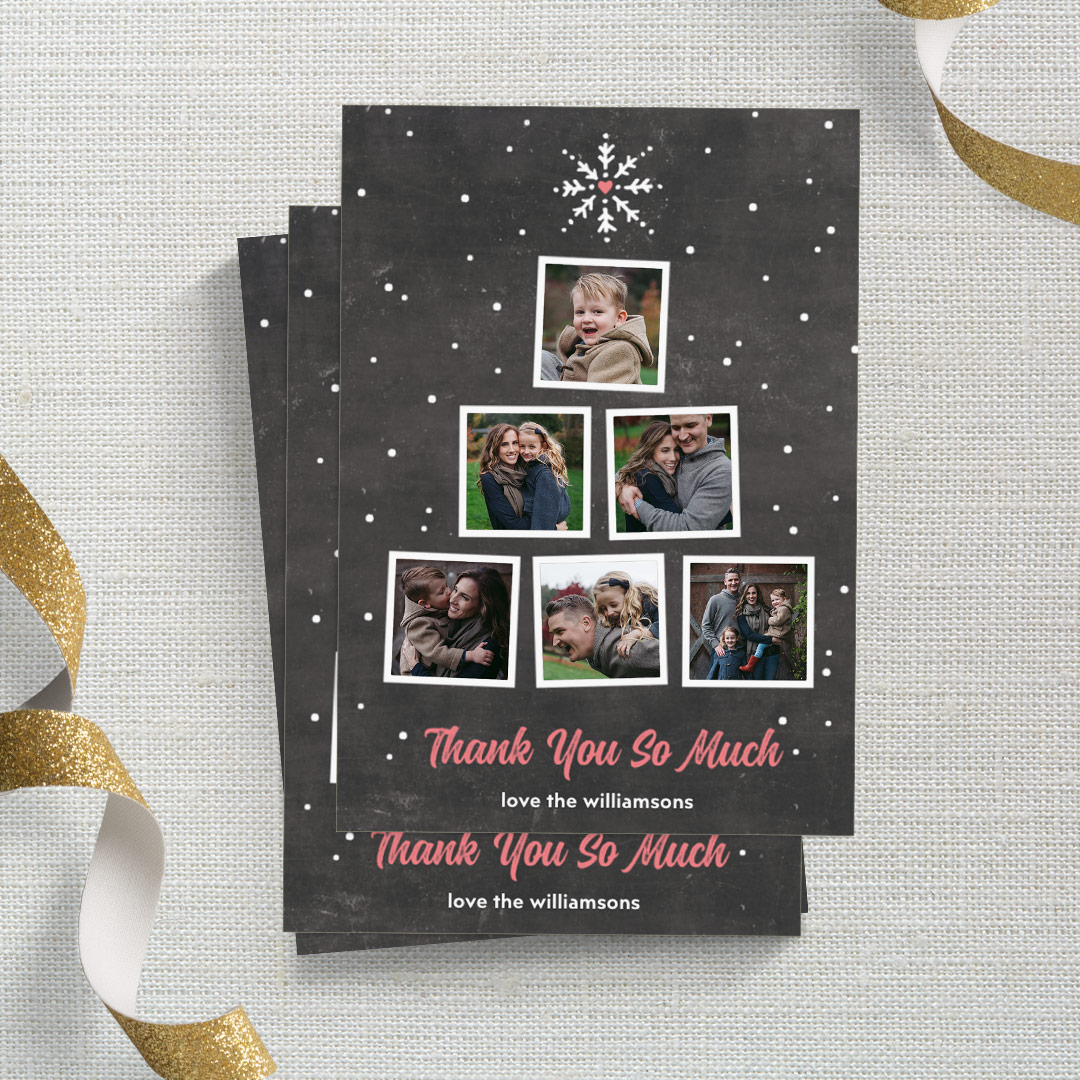 Sign off 2018 with Personalised Thank You Cards