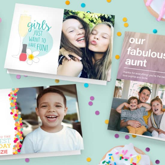Customised card sentiment to the personalised card imagery