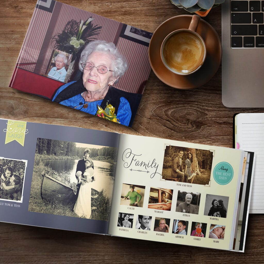 Create magic with family history photo books