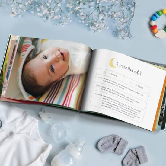 Create a year book of of all your baby's firsts