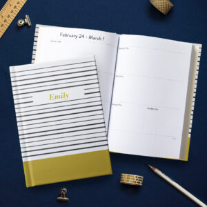 Personalised diaries are perfect for starting off the New Year