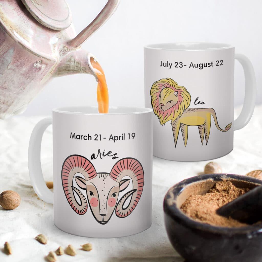 Zodiac Mugs make perfect birthday gifts all year round.