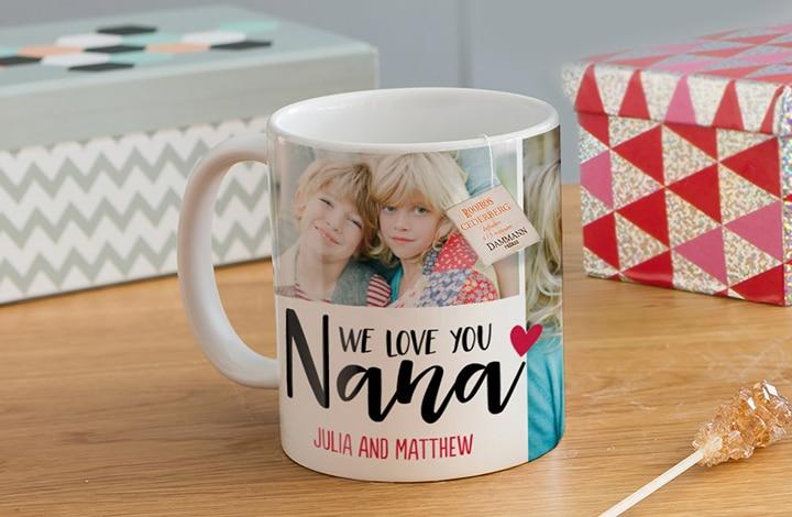 Grandma mug on a table