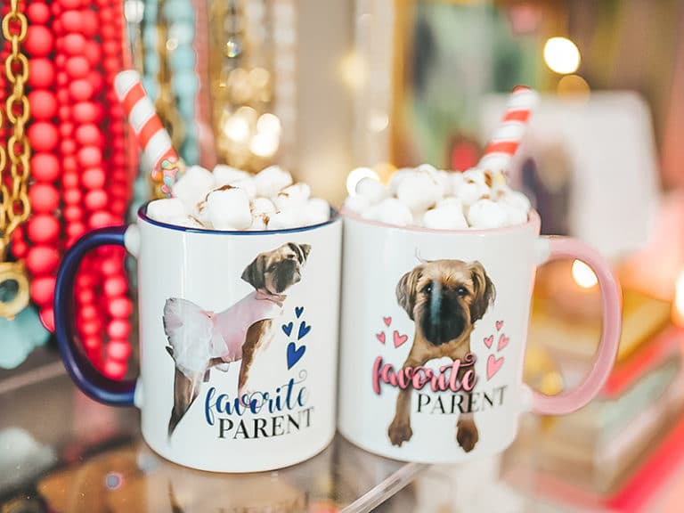 Mugs with photos of dogs on them