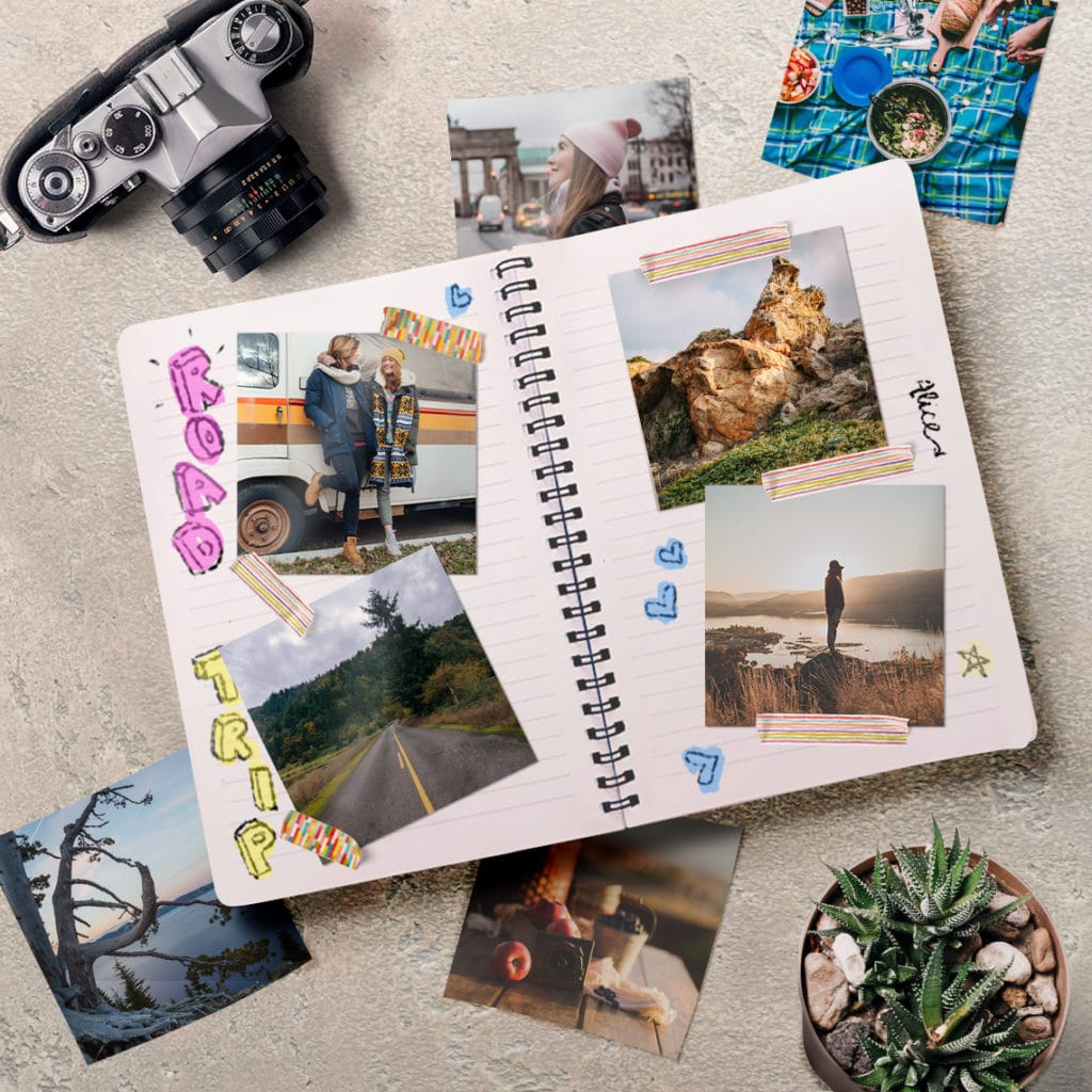 Create a Scrapbook using holiday and other fun photos