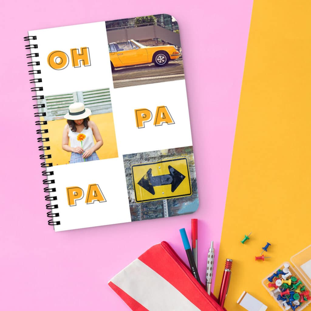 Personalised notebooks with spiral bindings make it easier to write your To-Do lists.