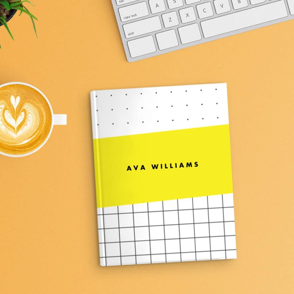 Customised hardcover notebooks give your journals that professional publisher look.