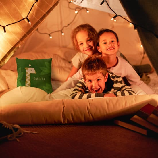 Create cosy back garden camp-outs with custom photo gifts