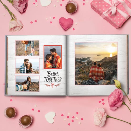 Create a beautiful love story with Snapfish photo albums