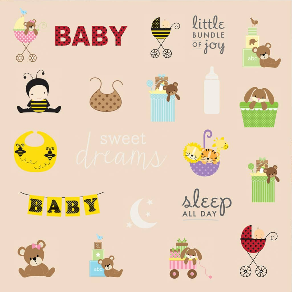 Snapfish has a wide range of baby embellishment stickers to enhance your picture books