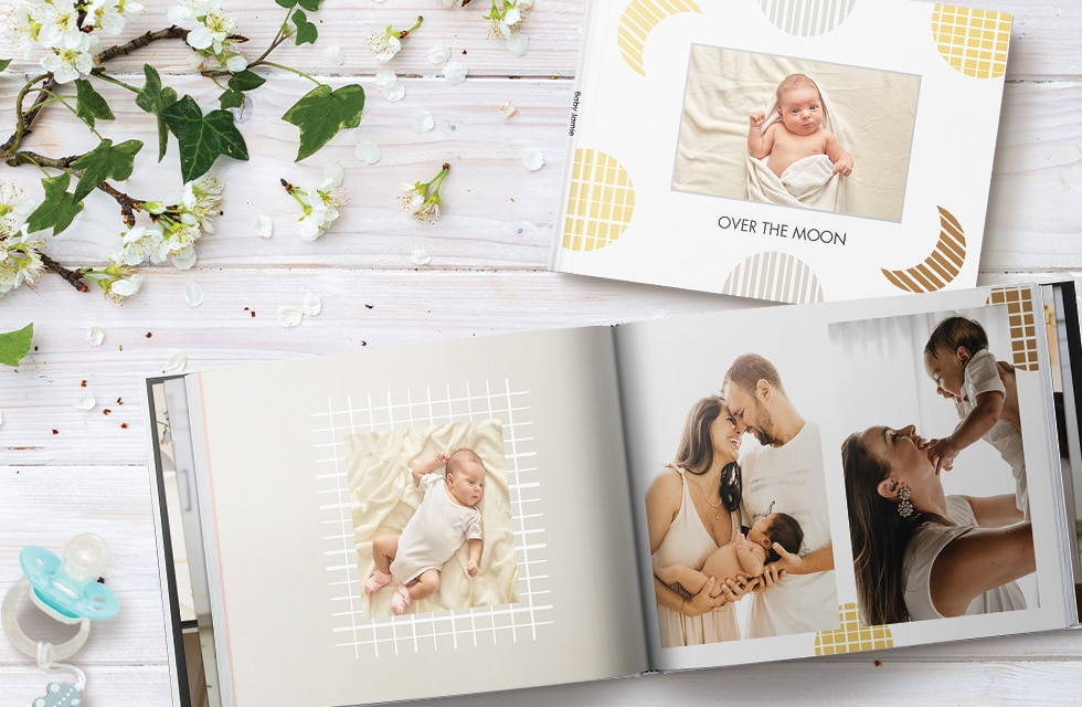 Easy to create new baby photo book albums with Snapfish Photo Service